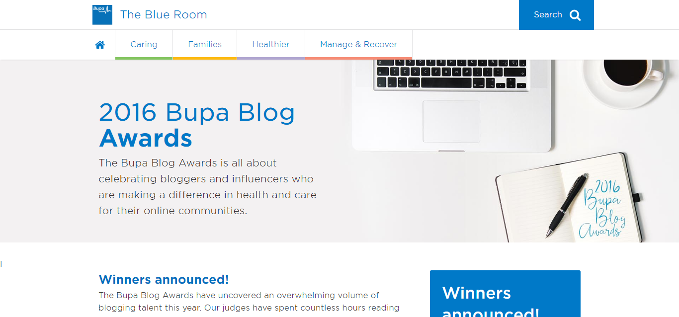 bupa-bloger awards