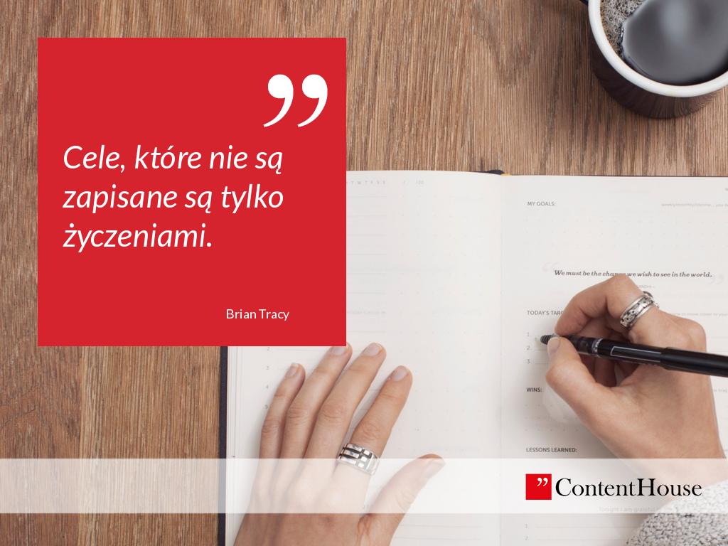 cele strategia ręka jak pisać
