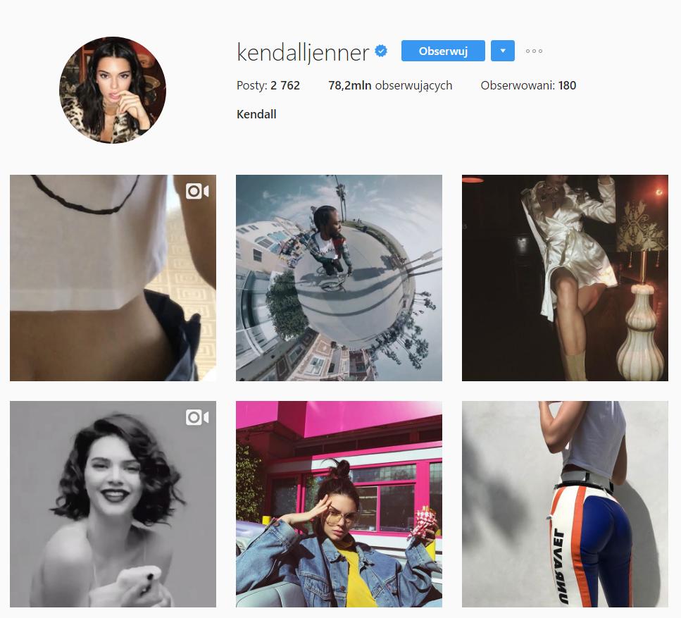 instagram newsfeed Jenner kendall moda influencer