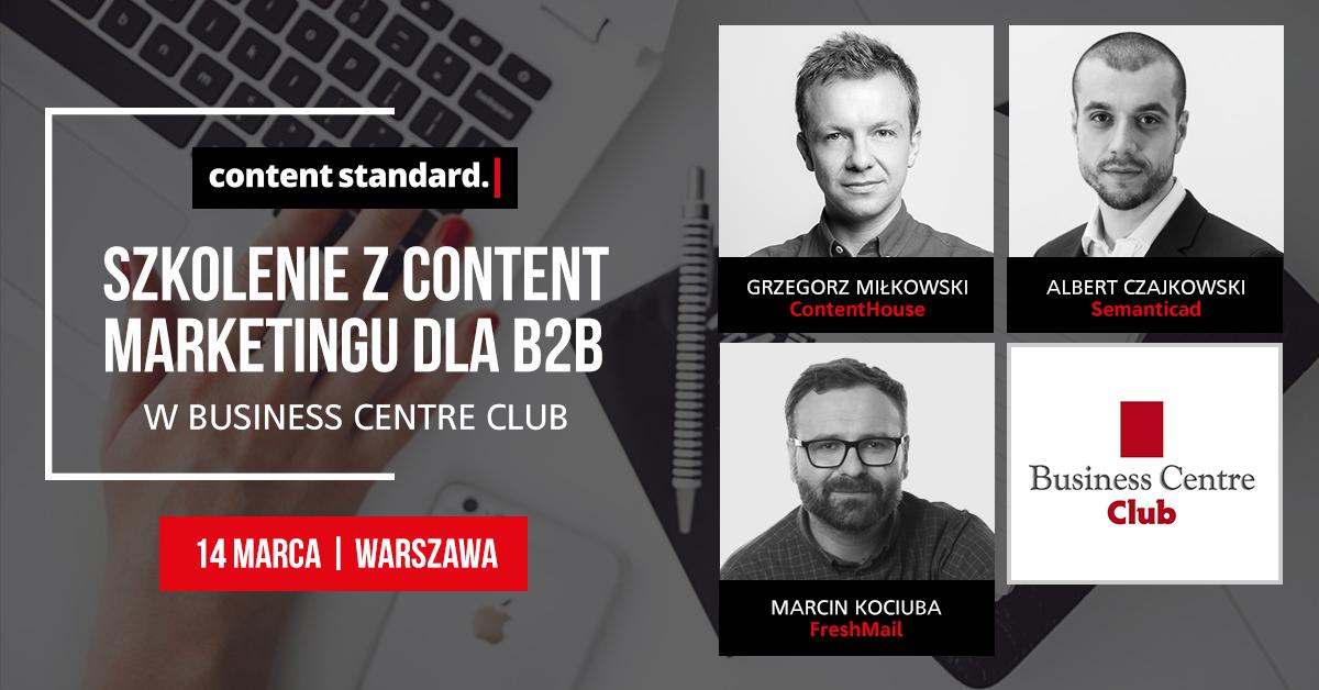 szkolenie content marketing B2B Warszawa