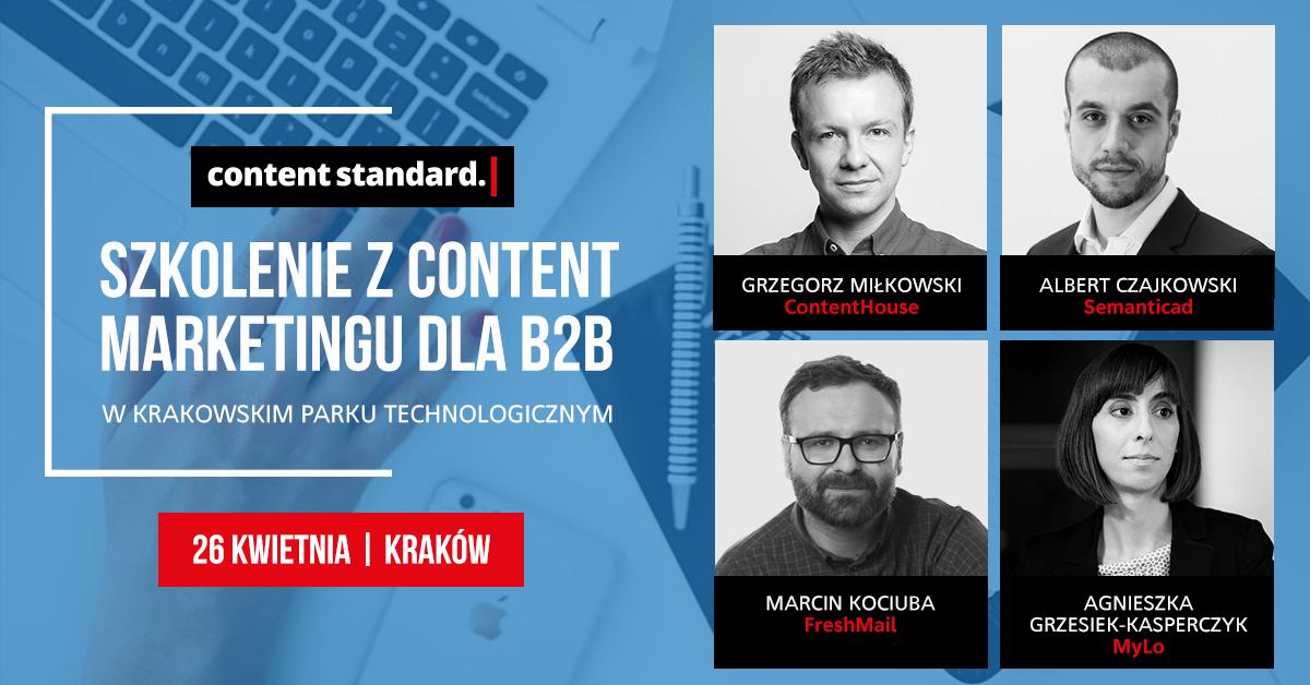 szkolenie content marketing B2B Kraków