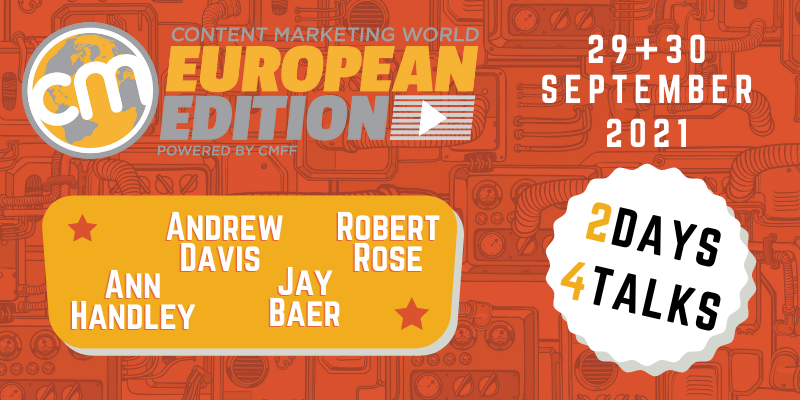 grafika konferencji content marketing world 2021